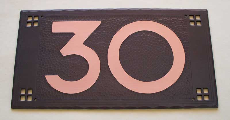 C003pfc pacific style one number plaque approx 4 1 2x5 5 8 130 68