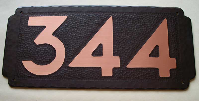 Arts and Crafts Style Address Plaque