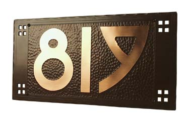 house number plate handcrafted by craftsmen hardware company