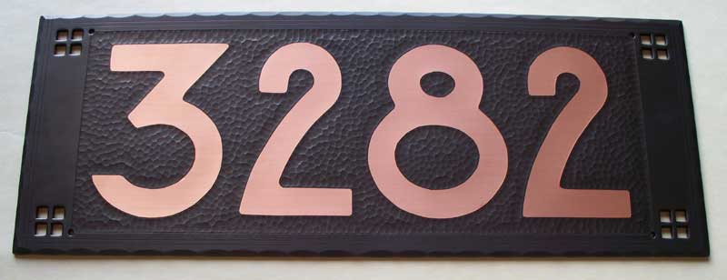 Craftsman House Number Plaques