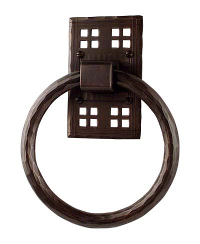 Arts and Crafts Towel Ring | Craftsman Style Towel Ring | Mission Style Towel Ring | Bathroom Hardware