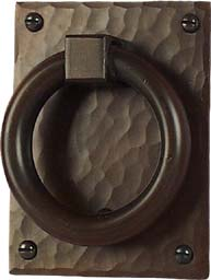 hand crafted arts and crafts style door knocker hand hammered copper
