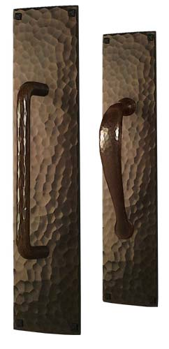 arts and crafts hammered style hand crafted hand hammered door pull hardware
