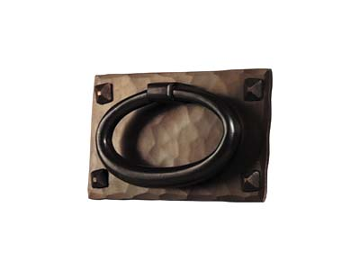 arts and crafts stickley reproduction style hand crafted hand hammered copper drawer pull hardware