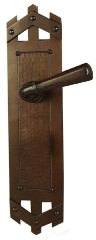Arts And Crafts Style Hand Crafted Copper Interior Door