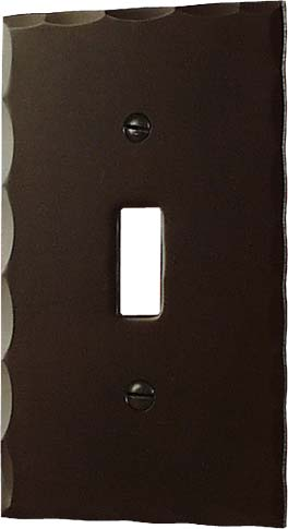 arts and crafts bungalow style hand crafted copper electrical plate cover