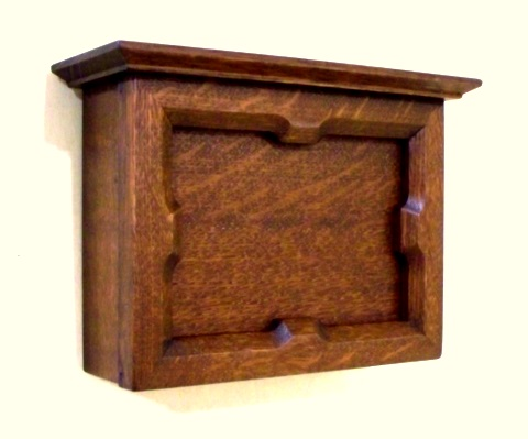 hand crafted arts and crafts style quarter sawn oak door chime