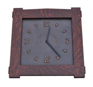 Arts and Crafts Style Wall Clock