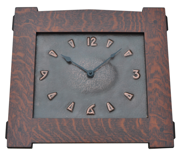 Arts and Crafts Style Hand Crafted Hand Hammered Copper Clocks and ...
