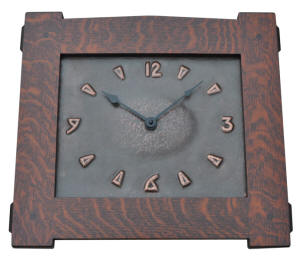 Arts and Crafts Copper Wall Clock