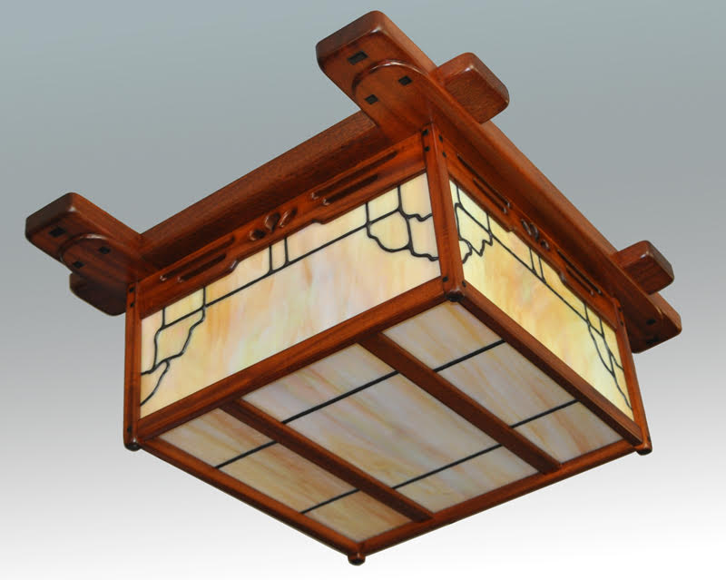 Arts Crafts Greene And Style Flush Mount Lighting