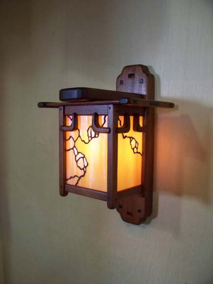 Arts And Crafts Greene And Greene Style Wall Sconce And