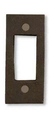 arts and crafts greene and greene style hand crafted interior escutcheon door hardware of hammered copper
